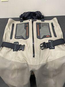Simms G4Z Zippered Bootfoot Waders - Vibram - Size 13 XL