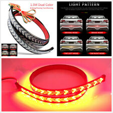 12V 60'' Car Truck Red Yellow LED Tailgate Light Strip Flowing Turn Signal Lamp