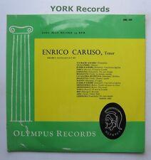 ENRICO CARUSO - Volume 1 - Excellent Condition LP Record Olympus ORL 301