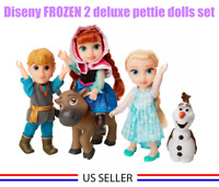 "NEW Disney Store Frozen 2 Petite Gift Set - Anna Elsa Kristoff Sven Olaf 6"" Doll"