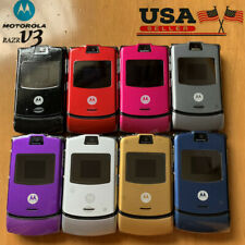 Refurbished Original Motorola Razr V3 Unlocked Flip Mobile Phone Gsm Bluetooth