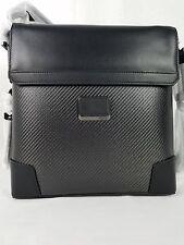 Tumi CFX Carbon Fiber Black Leather Suzuka Crossbody Messenger Bag 35105CB $795