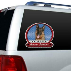 I Love My German Shepherd Picture Large Window Film Car Truck Decal Sticker