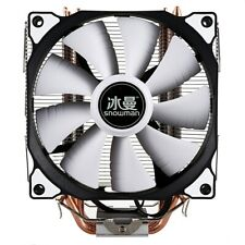 Snowman CPU Cooler 4 Pure Copper Heat-pipes Freeze Tower Cooling New