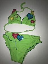Lolo love to Love toller Bikini ausgefallen 92/98/104 grün mit Herzen