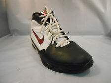 Nike Kids AV Pro 3 White Black and Red Basketball Shoes Size 5.5 Y / 38 Euro