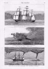 1878-antica stampa Marina Militare la perdita di Eurydice dunnose AFRICA BOXER COSTA Occidentale (047)