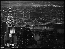 Murat Taner Chrysler Building Poster Kunstdruck im Alu Rahmen schwarz 60x80cm