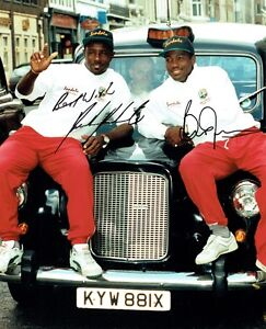 BRIAN LARA/RICHIE RICHARDSON - Signed relaxed photo of the two captains