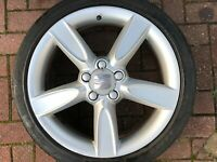 "GENUINE SEAT TOLEDO  / ALTEA 18"" SPARE ALLOY WHEEL & TYRE 5P0601025G FREE P&P"