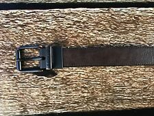 Levis Bridle Roller Buckle Belt Reversible Black Brown 36