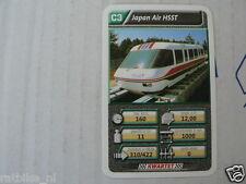 22 SUPER TRAIN C3 JAPAN AIR HSST TREIN KWARTET KAART, QUARTETT CARD