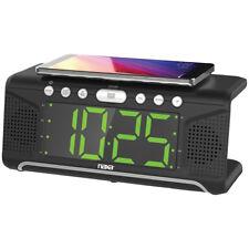 "Naxa Nrc-190 1.8"" Display Dual Alarm Clock with Qi Wireless Charging"