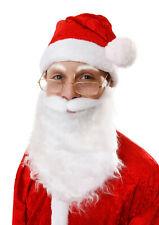 Barbe blanche Père Noël Papa Christmas joyeuses fêtes soirée déguisée accessoire