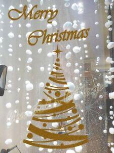60cm Polka Dot Merry Christmas Tree Star Waterproof Wall Shop Window Sticker