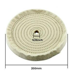 1x 8inch Round Circle Buffing Polishing Mop Wheel For Drill Bench Angle Grinder