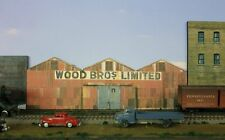 #154 HO scale background building flat   WOOD BRO'S  *FREE SHIPPING*