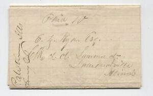 1841 Palestine IL manuscript stampless folded letter [5806.801]