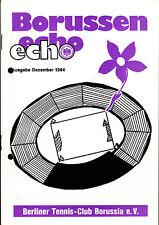 Tennis Borussia Berlin - Borussen echo - Dezember 1984