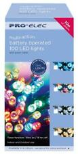 100 LED Multi-Colour Battery Operated Christmas Fairy Lights 10m Indoor Outdoor