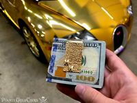HUGH HEFNER PERSONAL MONEY CLIP ON FOX NEWS PLAYBOY SOLID GOLD PIRATE GOLD COINS