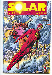 Solar Man Of The Atom 3 Valiant 1991 NM- 1st Toyo Harada Harbinger Foundation