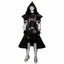Overwatch OW Reaper Cosplay Costume Deluxe Leather Full Set Shoes Included