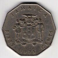 1975 JAMAICA MARCUS GARVEY 50 FIFTY CENTS NICE WORLD COIN