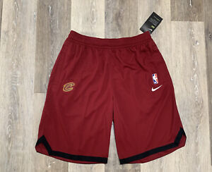 Nike Cleveland Cavaliers On-Court Practice Warm Up Shorts Red Men's Size Small