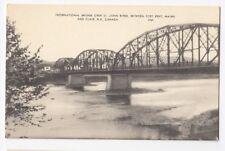 International Bridge St John River FORT KENT Maine US CLAIR New Brunswick Canada