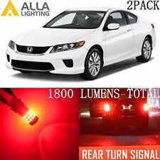 Alla Lighting LED Rear Turn Signal Blinker Light /Brake Bulb Red Lamps for Honda