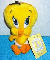 "WARNER BROTHERS STUDIO LOONEY TUNES BABY TWEETY BIRD 7"" PLUSH BEAN BAG TOY"