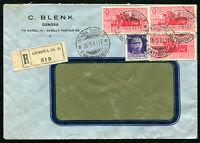 1931 - Raccomandata per la Germania con 3 75 cent. Virgilio n.287