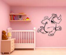 Wall Stickers Vinyl Decal Cheerful Hippo Animal for Kids Room Nursery (ig708)