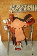 "16"" GW CRATE ROUGH OUT BARREL SADDLE NEW FREE SHIP CUSTOM MADE IN ALABAMA USA"