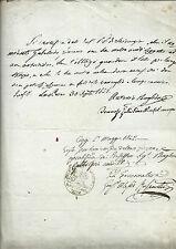 Certificato di Malattia Manoscritto Autografo Professore Chirurgo Baglioni 1842