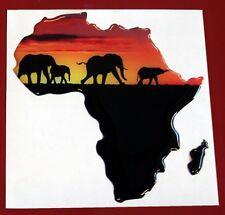 Adesivo 3D resinato -Africa con elefanti-R cm.9x10 - by Colorkit
