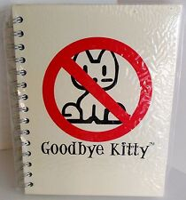 Hello Kitty Spoof Goodbye Kitty Spiral Notebook David and Goliath Gag Gift Weird