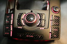 MMI Aufkleber Audi Carbon optik mit CD/TV Taste A6 4f mmi 2G + 3G High