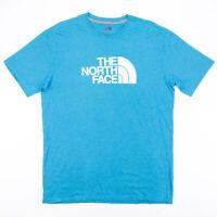THE NORTH FACE  Blue Logo Short Sleeve T-Shirt Mens L
