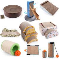 Cat Scratching Post Bed Pad Mat Sofa Lounger Scratcher Kitty Toys Catnip Nest