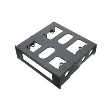 """1 X Bracket Case USB 3.5"""" to 5.25"""" Adapter Hub Bay Black Floppy Mounting PC"""