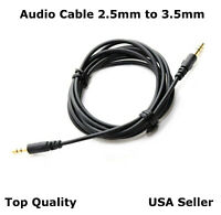 New Audio Cable Cord Aux for Bose Soundlink 2 Headphones 2.5mm to 3.5mm 5FT