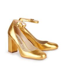 Buffalo Damen Pumps Leder gold-farben 39 Neu ZS 6454-16 H15985