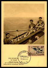 FRANCE MK 1953 SPORT SPORTS RUDERN KANU CANOE MAXIMUMKARTE MAXI CARD MC CM df19