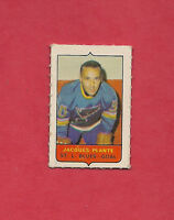 RARE 1969-70 OPC  FOUR ON ONE BLUES JACQUES PLANTE MINI  CARD