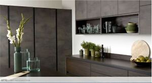 Otto Oxide Laminate Handleless Complete Kitchen Doors and Rigid Units