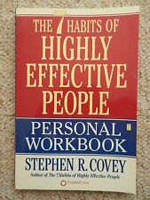 7 Habits of Highly Effective People Personal Workbook Covey Life Path Goals Help