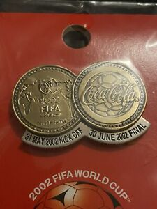Rare World Cup Pin Badge Japan Korea 2002 Coca Cola Coke Football FIFA Final