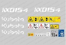 Kubota KX015-4 Mini Bagger komplette Aufkleber Satz mit sicherheit-warnzeichen